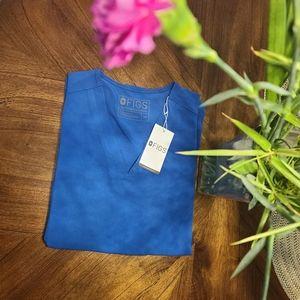 BNWT Figs Limited Edition Royal Blue Casma Top